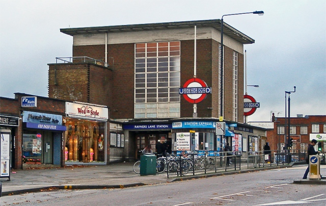 Rayners Lane station, showing south entrance